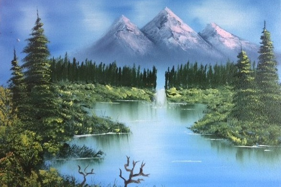 Bob Ross Zomerlandschap