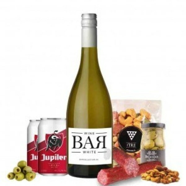Borrelbox met wijn en bier