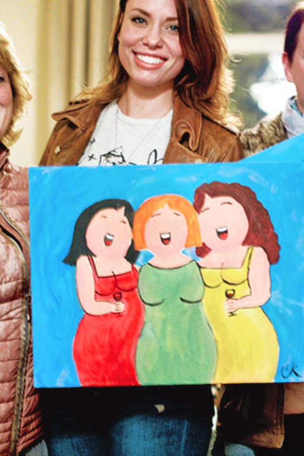 Dikke dames schilderen