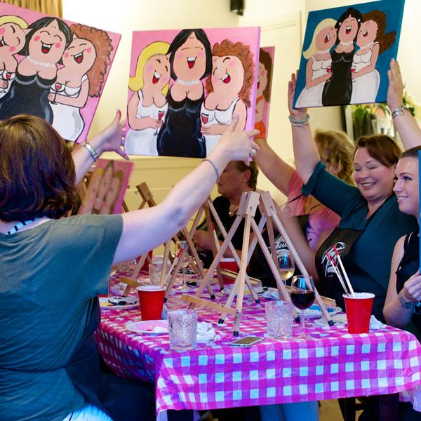 Dikke Dames Schilderen Groep