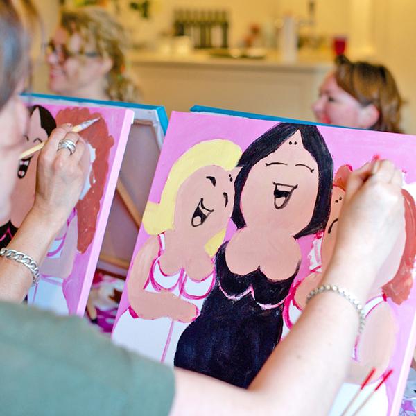 Dikke Dames Schilderij Workshop