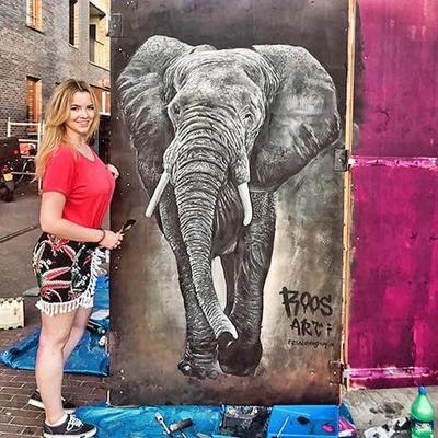 Graffiti kunstenaar in Utrecht