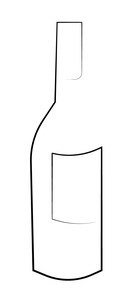 Wijn fles illustration 04