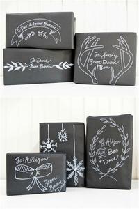 Chalkboard Gift Wrap 2