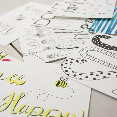Workshop Brush Letteren Kaartje