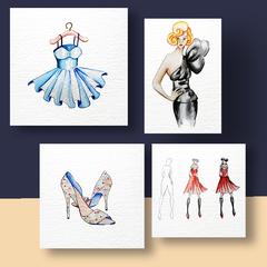 Aquarel Compilatie Fashion