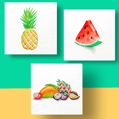 Aquarel Compilatie Fruit