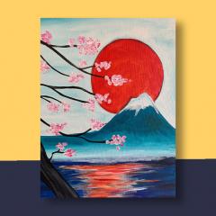 Japanse Bloezem Stramien