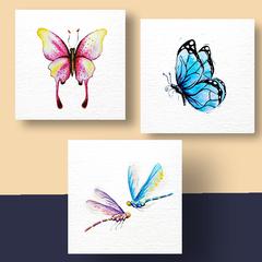 Aquarel Compilatie Vlinders
