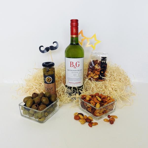 Borrelpakket witte wijn