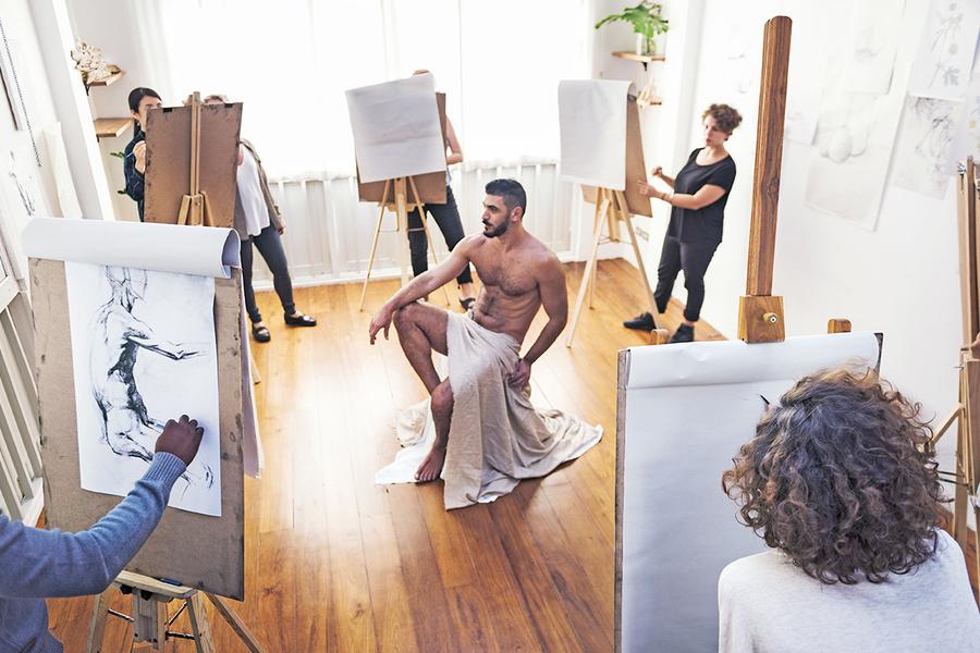 Aktmode Malerei Workshop Gruppenausflug