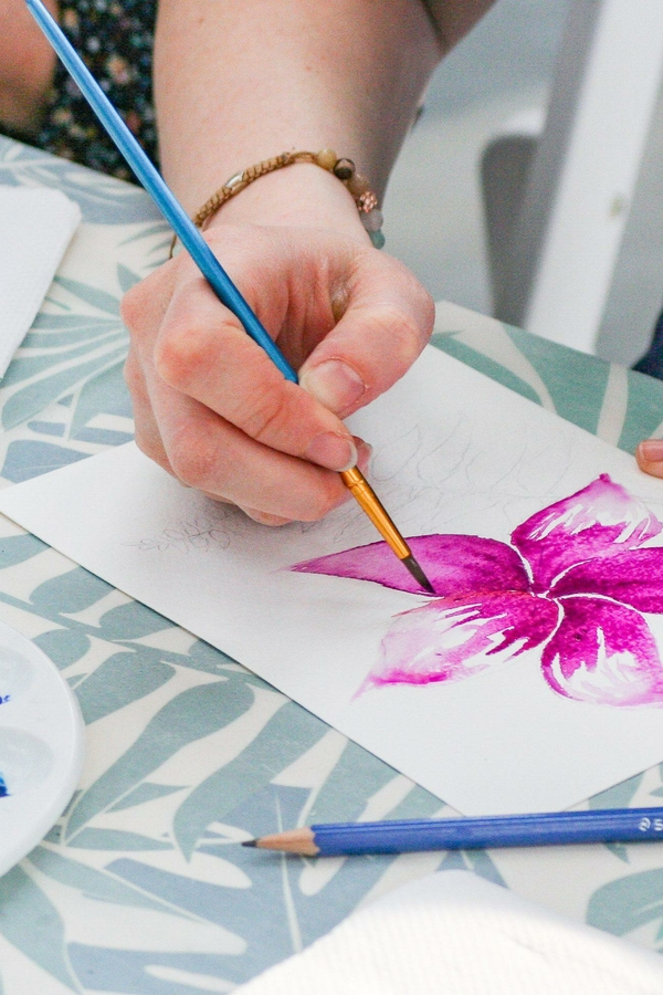 Workshop Aquarel Bloem