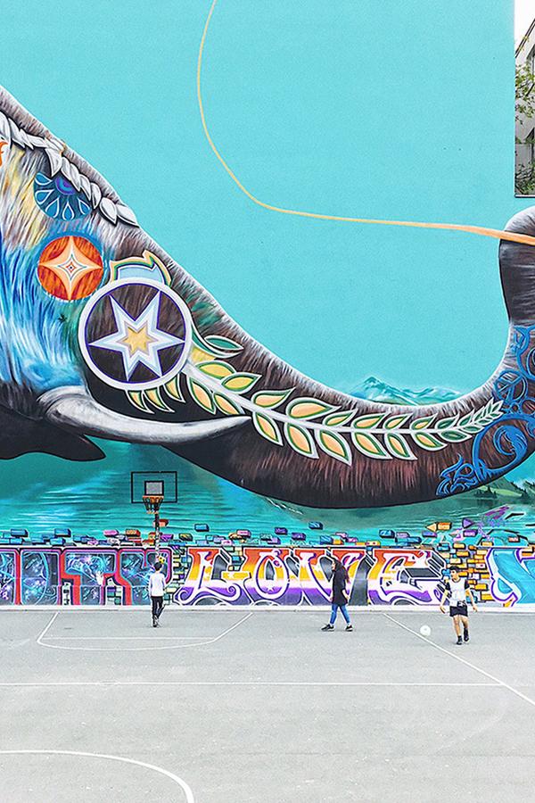 Graffiti muurschildering Utrecht