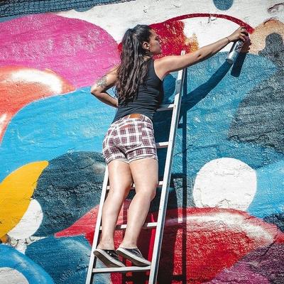 Graffiti art canvas Utrecht