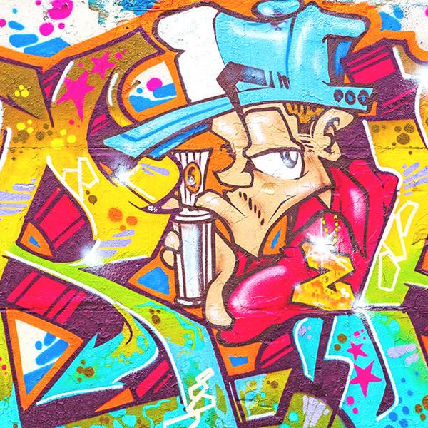 Utrecht graffiti spuiten