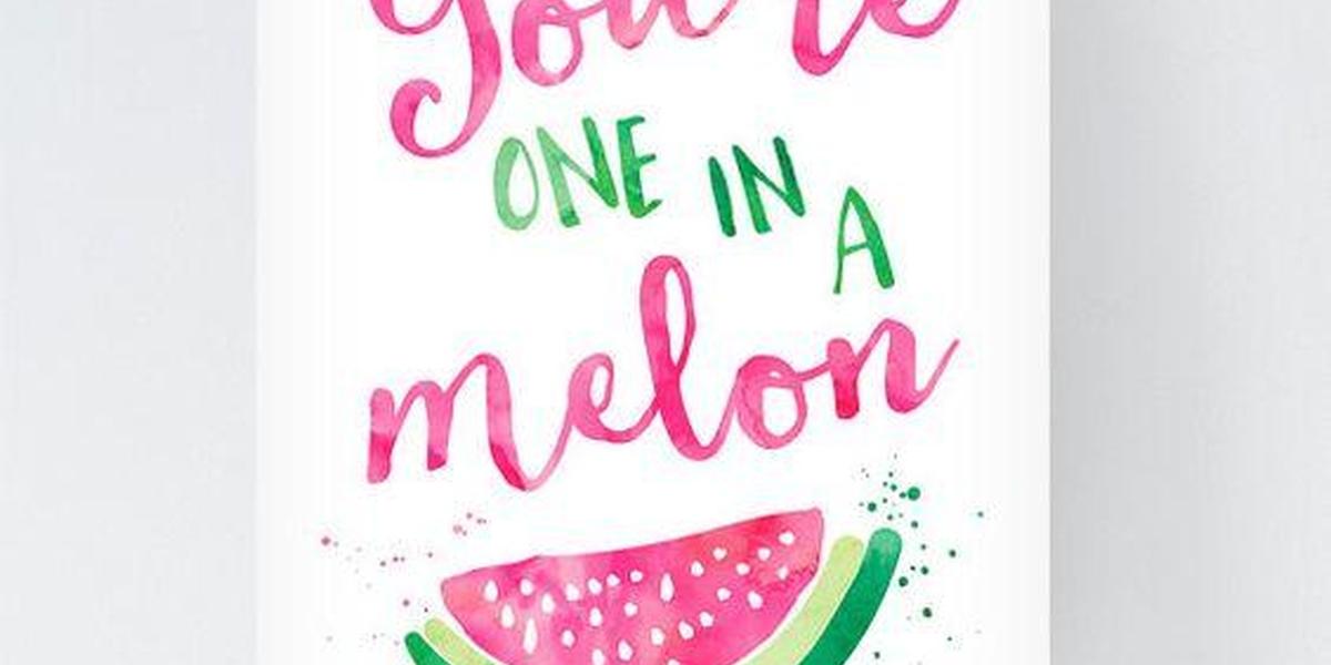 Brushletter Meloen