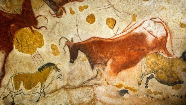 muurschildering aquarel