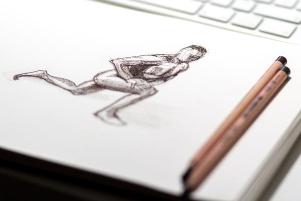 Schetsboek menselijk lichaam