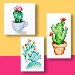 Aquarel Cactus Compilatie V2