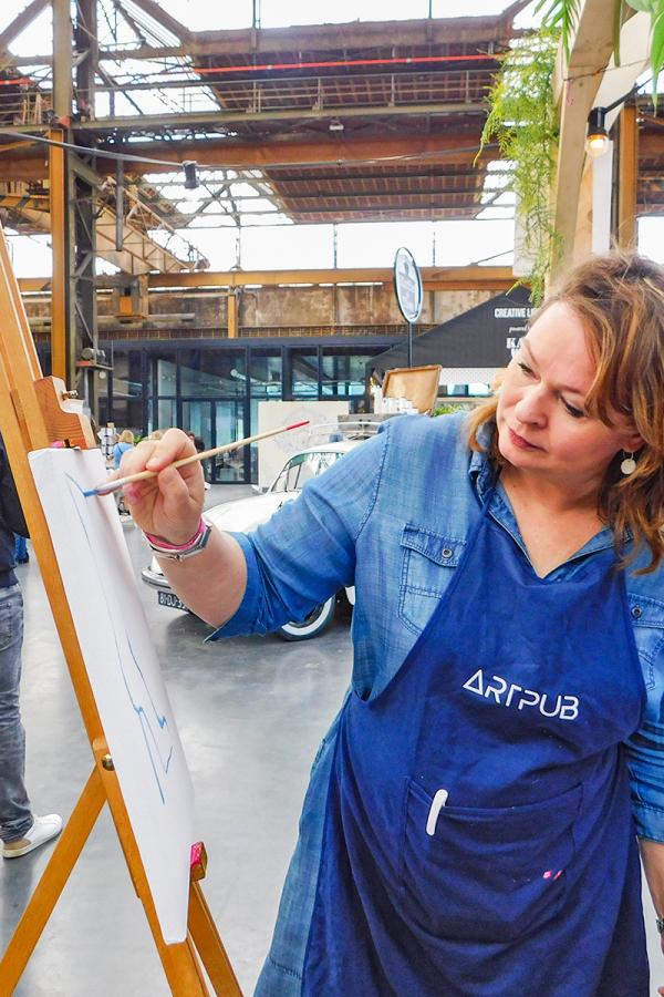 Workshop schilderen kunstenaar