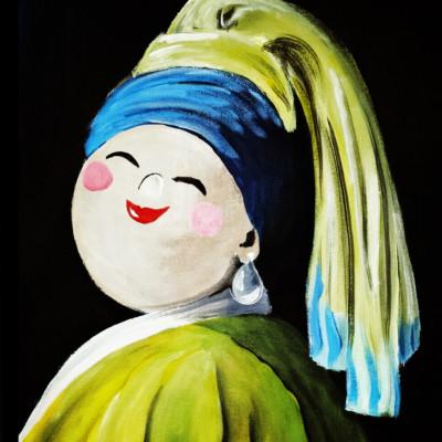Bekende Kunstenaars Schilderijen Dikke Dame Parel